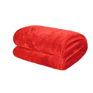 Brentfords Supersoft Throw, Coral - 120 x 150cm