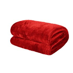 Brentfords Supersoft Throw, Red - 120 x 150cm