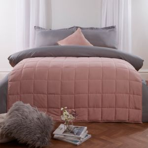 Brentfords Weighted Blanket Quilted - Blush Pink