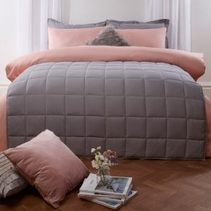 Brentfords Weighted Blanket Quilted - Silver Grey