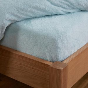 Brentfords Teddy Fleece Fitted Sheet - Duck Egg