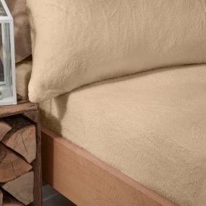 Brentfords Teddy Fleece Fitted Sheet - Sand