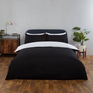 Brentfords Reversible Duvet Cover Set - White Black