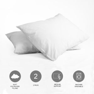 Brentfords Medium Support Pillow - 2 Pack