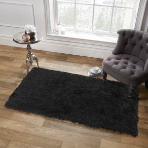 Sienna Shaggy Rug 5cm Pile - Black