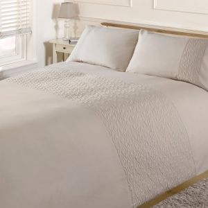 Brentfords Pinsonic Wave Duvet Cover Set - Cream