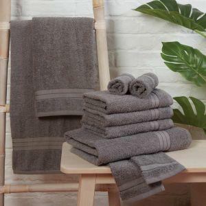 Brentfords Towel Bale 10 Piece - Grey