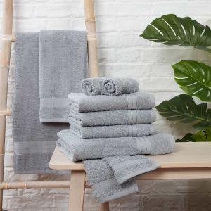 Brentfords Towel Bale 10 Piece - Silver