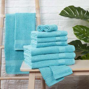 Brentfords Towel Bale 12 Piece - Aqua