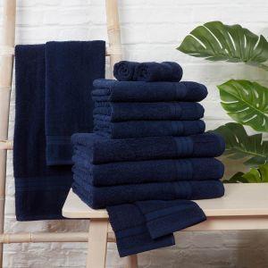 Brentfords Towel Bale 12 Piece - Navy