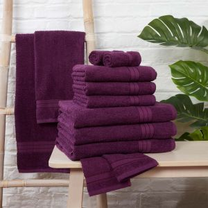 Brentfords Towel Bale 12 Piece - Purple