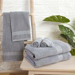 Brentfords 100% Cotton Towel - Silver Grey