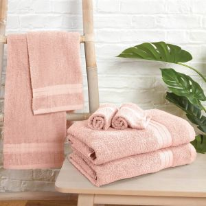 Brentfords Towel Bale 6 Piece - Blush Pink