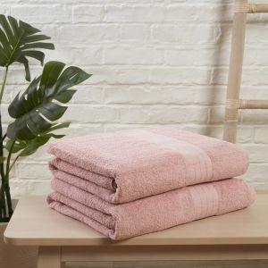 Brentfords 2 Jumbo Bath Sheets - Blush Pink