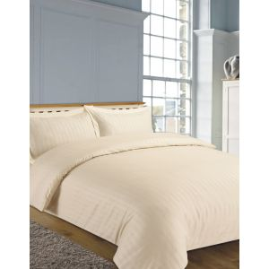 Hotel Stripe 4 Pc Complete Set with Sheet - Cream