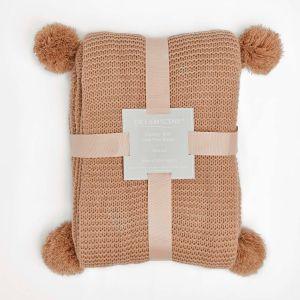 Dreamscene Chunky Knit Throw, Natural - 150 x 180cm