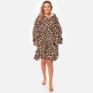 Dreamscene Leopard Print Hoodie Blanket