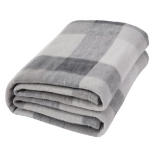 Dreamscene Tartan Check Fleece Throw, Grey - 120 x 150 cm