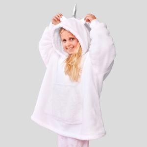 Dreamscene Unicorn Hoodie Blanket, Kids - White