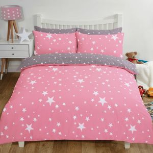 Dreamscene Stars Duvet Set - Blush Pink