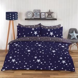 Dreamscene Stars Duvet Set - Navy