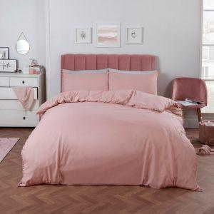 Dreamscene Pom Pom Duvet Cover Set - Blush