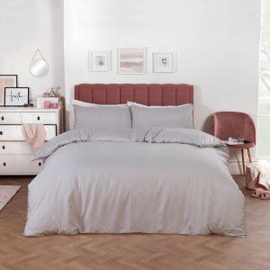Dreamscene Pom Pom Duvet Cover Set - Grey