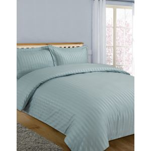 Hotel Stripe 4 Pc Complete Set with Sheet - Duck Egg