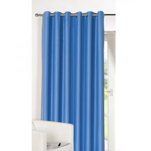 """Luxury Ring Top Fully Lined Blackout Eyelet Thermal Door Curtain Blue 66"""" x 84"""""""