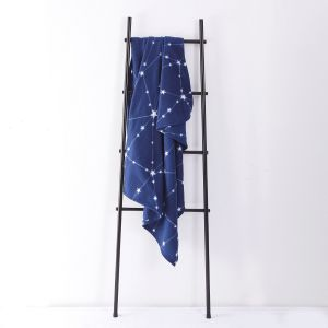 Dreamscene Galaxy Star Fleece Throw, Navy Blue - 120 x 150cm