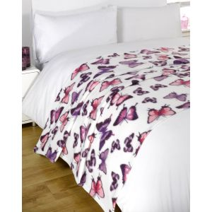 Fleece Blanket 120x150cm - Butterfly
