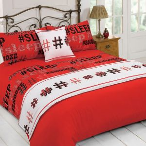 Dreamscene Hashtag 5 Piece Bed in a Bag Set Red - Single