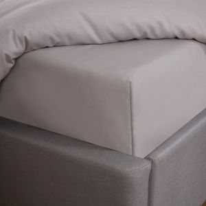 Highams Easy Care Polycotton Fitted Sheet - Silver Grey