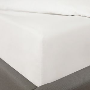 Highams 100% Cotton Fitted Sheet - White