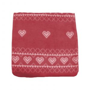 Dreamscene Nordic Fleece Throw, Red - 125 x 150cm