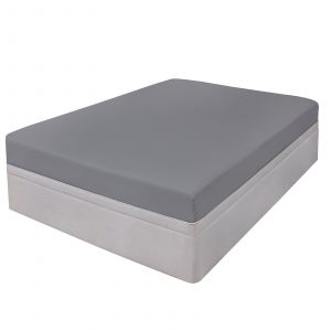 Highams 100% Cotton Fitted Sheet - Grey Silver