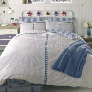 Dreamscene Jingle All The Way Christmas Duvet Cover Set, Blue - Double