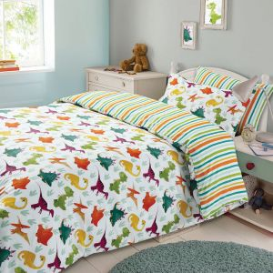 Dinosaur Duvet Cover Set - Multi Coloured