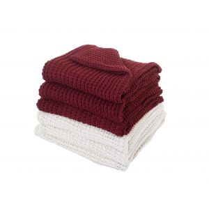 Dreamscene Soft Knitted Luxurious Throw Blanket 150x200cm - Red