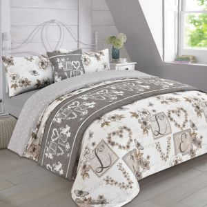 Millie Bed In A Bag Duvet Set - Taupe