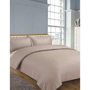 Hotel Stripe 4pc Complete Set with Sheet - Mink