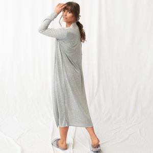 OHS Jersey Maxi Cardigan - Grey