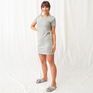 OHS Basic Short Sleeve T-Shirt Dress - Grey