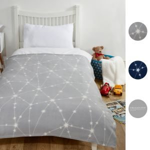 Dreamscene Galaxy Star Fleece Throw - 120 x 150cm