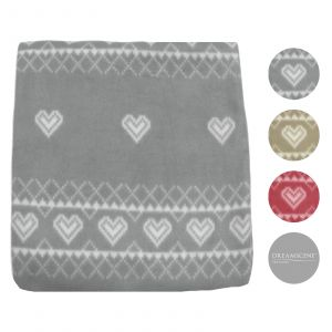 Dreamscene Nordic Fleece Throw - 120 x 150cm