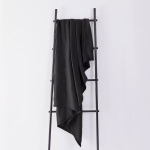 Dreamscene Plain Fleece Throw - Black