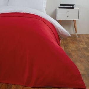 Dreamscene Plain Fleece Throw - Red