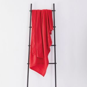Dreamscene Plain Fleece Throw - Red
