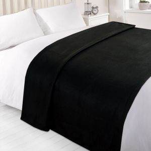 Dover Plain Fleece Throw Black