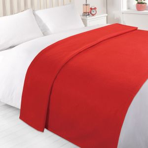 Dover Plain Fleece Throw Red
